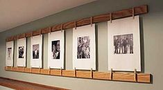 How To Hang Photos In Unusual Ways - Rustic Crafts & Chic Decor Rustic Crafts, Decor Crafts, Diy Home Decor, Clothespin Photo Displays, Exhibition Display, Exhibition Ideas, Hanging Pictures, Picture Wall, Picture Collages