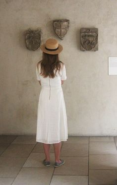 A Visitor to The Cloisters Photo by Judith Lindbergh — National Geographic Your Shot The Cloisters, Lindbergh, National Geographic Photos, Your Shot, Amazing Photography, White Dress, White Dress Outfit