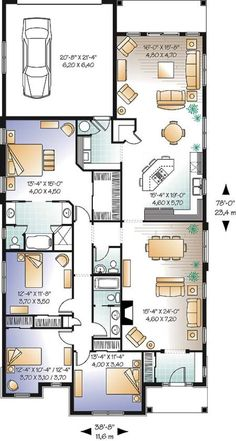 Image Result For Rear Entry Garage Townhome Floor Plan