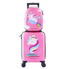 Cute Luggage, Best Carry On Luggage, Luggage Case, Kids Luggage, Cute Suitcases, Unicorn Fashion, Unicorn Kids, Kawaii, Christmas Baby
