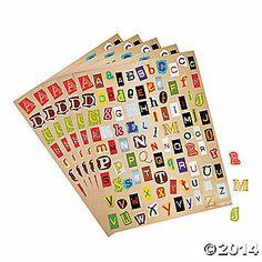 Ransom Note Alphabet Stickers