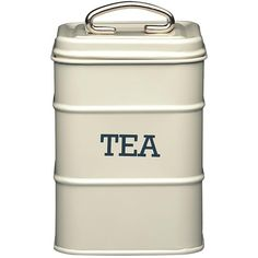 Living Nostalgia Antique Tea Tin (€17) ❤ liked on Polyvore featuring home, kitchen & dining, food storage containers, kitchen, lidded box, tea box, antique box, cake tin and sugar box