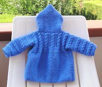 Ravelry: Hooded Baby Coat pattern by Filomena Lanzara Knit Baby Sweaters, Knitted Baby Clothes, Baby Knits, Baby Cardigan, Hooded Sweater, Baby Knitting Patterns, Baby Patterns, Knitting For Kids, Free Knitting