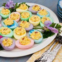 Colorful Deviled Eggs - ELLEDecor.com