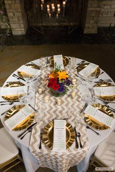White Polyester with Chevron Sequin Runner | Gold chiavari chairs ...