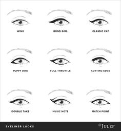 Different ways to line your eyes. A new one for every day of the week...