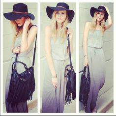 Fashion Blogger Blair Badge is looking Boho-Chic In Gypsy05's Lovina Raw Seam Linen Maxi ♡