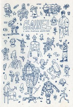 Channel, my new sketchbook zine, is now available for purchase here! 1 color…