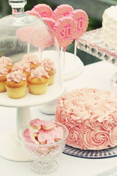 Shabby + Romantic Pink 30th Birthday Party- good idea for shower too!
