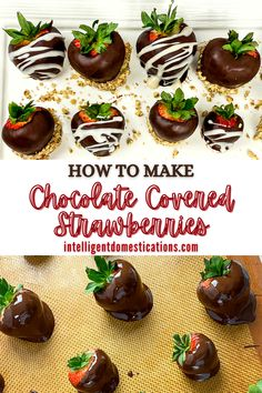 Step by step how to make chocolate covered strawberries at home. Save the big bucks and make your own chocolate covered strawberries. They look expensive but they are homemade. #chocolate #valentines Delicious Dishes, Delicious Recipes, Easy Recipes, Easy Meals, Yummy Food, Baking Tips, Baking Recipes, Dessert Recipes, How To Make Chocolate
