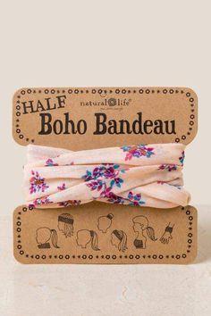 Natural Life Women/'s Boho Roses Pink Sage White Combo Boho Bands