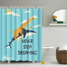 SHARE & Get it FREE   Dolphin Animal Letter Printed Waterproof Shower CurtainFor Fashion Lovers only:80,000+ Items·FREE SHIPPING Join Dresslily: Get YOUR $50 NOW!