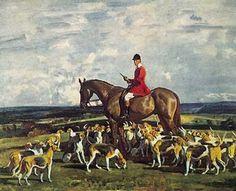 Sir Alfred Munnings painting