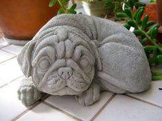 Pug Dog Statue Ornament Garden Sculpture Art BIG *28cm* 1957 | Pug Dogs |  Pinterest | Dog