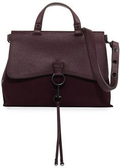Rebecca Minkoff Keith Ring and Clip Leather Satchel Bag #promotionalgifts
