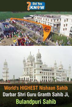 #DidYouKNow World's HIGHEST Nishaan Sahib- Darbar Shri Guru Granth Sahib Ji, Bulandpuri Sahib! The world's tallest Nishan Sahib, the Sikh's triangular and symbolic flag, is erected at Darbar Sri Guru Granth Sahib Ji, Bulandpuri Sahib, which was formerly known as Nawan Nanaksar Thath, Bulandpuri Sahib Read More http://barusahib.org/…/worlds-highest-nishaan-sahib-darbar…/ Share & Spread for the WORLD to know!