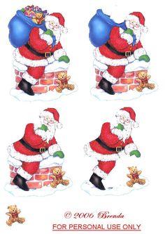 3D Christmas Sheets, Christmas Cards To Make, Christmas Clipart, Christmas Paper, Christmas Printables, Christmas Pictures, Xmas Cards, Vintage Christmas, Christmas Crafts