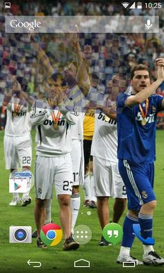 Description<br>A superior quality 3D Real Madrid FC live wallpaper for Android users. This live wallpaper is a gift to Real Madrid FC fans for upcoming FIFA World Cup 2014. Love Real Madrid FC…..?? Show your passion for Real Madrid FC, let Real Madrid FC flag fly high on your Android device. <br>:::::::::::::::::::::::::::<br>Distinct Features<br>:::::::::::::::::::::::::::<br>✔ Genuine OpenGL 3D Flag animation.<br>✔ Play FIFA Anthem.<br>✔ Floating cloud animated background effect.<br>✔…