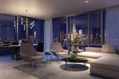 Peek inside Park and Shore, Jersey City's 'ultra luxury' condo development - Curbed NYclockmenumore-arrow : Woods Bagot, who also worked on NYC's Baccarat Hotel Luxury Penthouse, Luxury Condo, Luxury Apartments, Luxury Homes, Condo Interior, Mansion Interior, Interior Design, City View Apartment, Apartment Living