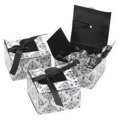 Heart Flap Favor Box - Black/White set of 25 at Target $17.44