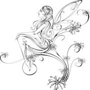 Flash Art Fairy Tattoo 1~A.R.