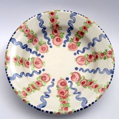 "SUPPENTELLER ""Rosa-BluVerde"" Teller, Decorative Plates, Tableware, Home Decor, Pink, Dishes, Dinnerware, Interior Design, Home Interior Design"