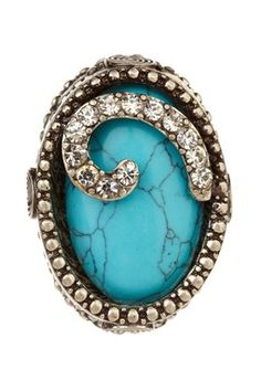 Modern Turquoise Stretch Ring