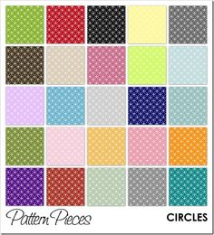 Free Printable - Pattern Pieces - Circles