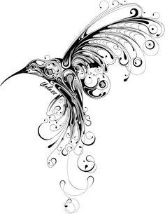 My tattoo idea. Hummingbird design by si scott Tattoo Design Drawings, Pencil Art Drawings, Tattoo Designs, Tattoo Ideas, Steampunk Drawing, Steampunk Bird, Spine Tattoos, Body Art Tattoos, Tatoos