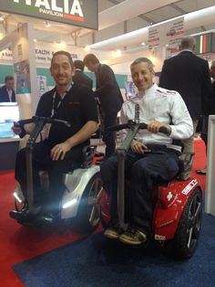 Andrew trying out the latest offering from Genny mobility at Arab Health