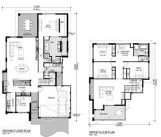 Planos de casa de dos pisos Narrow Lot House Plans, Dream House Plans, House Floor Plans, Construction Firm, Construction Drawings, Architects Near Me, Architecture Design, Gothic Architecture, Building Plans