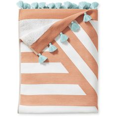 Serena & Lily Sydney Beach Towel (€67) ❤ liked on Polyvore featuring home, bed & bath, bath, beach towels, beach, summer, towel, filler, stripe beach towel and jacquard beach towel