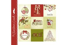 Check out 9 Christmas cards, vintage style by GraphicMarket on Creative Market