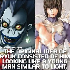 But the author scrapped this idea because he didn't want any character to be more attractive than Light.
