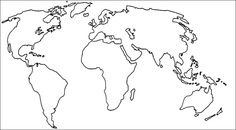 Cut Out Outline Of Continents HashHash Teaching Time - Basic world map outline
