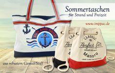 Die perfekte Begleitung für den Strand-Urlaub, modische Taschen aus Canvas jetzt auf imppac! Trends, Perfect Fit, Reusable Tote Bags, Canvas, Classic, Fitness, Fashion, Watches Online, Vacation