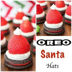 Oreo Santa Hats