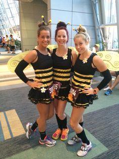 Bee Running costume for the Wicked 10K in Virginia Beach, VA