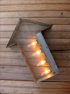 Steel+arrow+wall+sign+steampunk+light+by+HitandMissLimited+on+Etsy,+$125.00