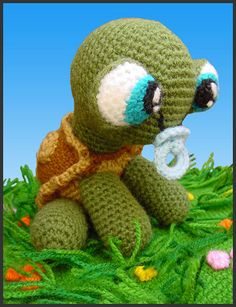 OMG it's baby peanut!! Crochet turtle