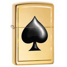 Zippo Windproof Lighter With Ace Of Spades Emblem