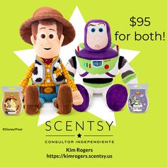 WOODY and BUZZ are here at Scentsy! Disney Toys, Disney Pixar, Woody And Buzz, Scentsy, Toy Story, Product Launch, Teddy Bear, Kids, Collection