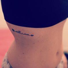 arrow tattoo + words
