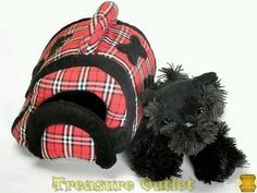 Animal Alley Toys R Us Stuffed Plush Scottish Terrier Puppy Dog And Carrier
