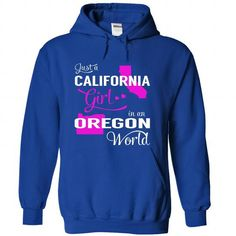 Just a CALIFORNIA Girl in an OREGON World (Pink) #fashion #TShirts