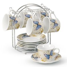 @Overstock - Enjoy your coffee in this porcelain espresso set from Lorren Home Trend. A beautiful butterfly pattern on the lovely porcelain defines this set.   http://www.overstock.com/Home-Garden/Lorren-Home-Trend-Butterfly-Design-Espresso-Set/7709668/product.html?CID=214117 $29.99