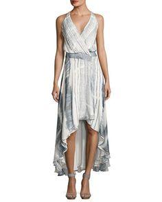 05045d3f3a2f77 Haute Hippie Meet Me Tonight High-Low Silk Dress