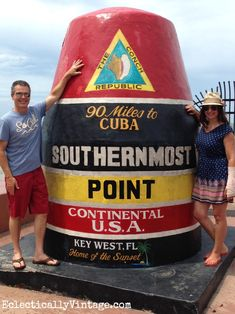 Southernmost point Key West - just 90 miles to Cuba kellyelko.com