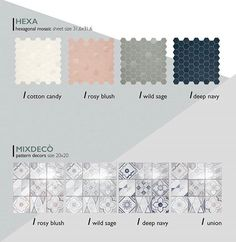 Latest color trends matching with fashion, contemporary style and design: these are Hexa and Mixdecò, the decorative side of the project, from white to pink, from green to blue shades, four modern and refined decors and mosaics hues. Here you are the second, astonishing part of Betonstil project. #terratinta #madeinitaly #tiles #design #scandinavian #notaclassicstory #terratintastyle #Betonstil #newcollection Green To Blue, Contemporary Style, Modern, Latest Colour, Marrakech, Color Trends, Mosaics, Scandinavian, Two By Two