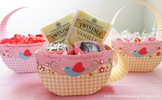 Party Planning Center: Free Printable Candy Boxes and Kids Valentine Cards